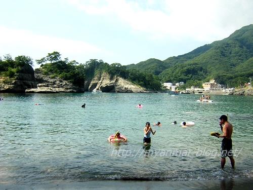 ↑堂ヶ島近くの乗浜海岸
